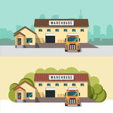 Illustration of logistics and warehouse. Stock Photography