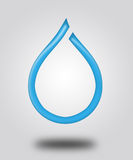 Illustration. Logo - a Drop of water. Stock Photo