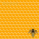 Illustration of logo for the theme of bees and honey Royalty Free Stock Photos