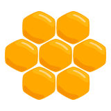 Illustration of logo for the theme of bees and honey Royalty Free Stock Photography