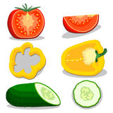 Illustration of logo for the theme of the vegetables Royalty Free Stock Photos