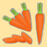 Illustration logo for yellow carrots. Royalty Free Stock Photography