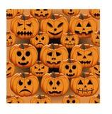 Illustration of logo for yellow pumpkin halloween Stock Photo