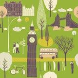 Illustration of Londoner themes Stock Photography