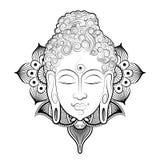 Lord Buddha in meditation for Buddhist festival of Happy Buddha Purnima Vesak Royalty Free Stock Photography