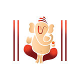 Illustration of lord ganesh Royalty Free Stock Image