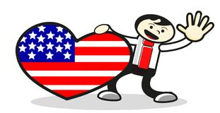 Illustration of love for america Royalty Free Stock Photography