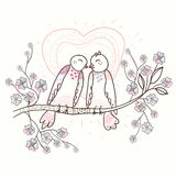 Illustration of Love Birds Stock Images