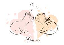 Illustration - love cats Royalty Free Stock Photos