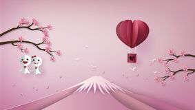 Illustration of love and valentine day. royalty free illustration