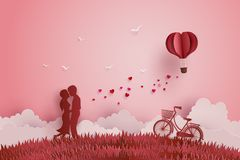 Illustration of Love and Valentine day Stock Photo