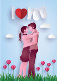 Illustration of love and valentine`s Day. stock photos