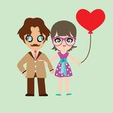 Illustration of lovely sweet couple Royalty Free Stock Photos