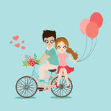 Illustration of lovely sweet couple. Royalty Free Stock Images