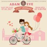 Illustration of lovely sweet couple wedding. Royalty Free Stock Photo
