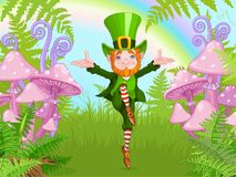 Lucky Dancing Leprechaun. Illustration of Lucky Dancing Leprechaun Royalty Free Stock Images