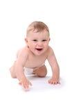Illustration lumineuse de bébé de rampement dans la couche-culotte Photos stock