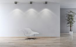 Illustration lumineuse moderne de rendu de l'appartement 3D d'intérieurs Photos stock
