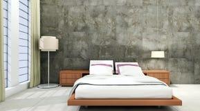 Illustration lumineuse moderne de rendu de l'appartement 3D d'intérieurs Image libre de droits