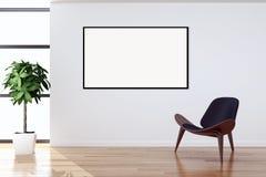 Illustration lumineuse moderne de rendu de l'appartement 3D d'intérieurs Image stock