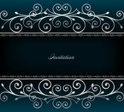 Illustration of luxurious invitation card. Vector Royalty Free Stock Image