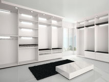 Illustration of Luxurious white wardrobe in a modern style Stock Photo