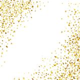 Luxury Celebrations background with falling pieces of metallic gold glitter and confetti. Illustration of Luxury Celebrations background with falling pieces of Royalty Free Stock Images