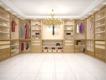 Illustration of luxury wardrobe in modern style Royalty Free Stock Image