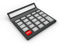 Illustration of a lying calculator Royalty Free Stock Photography