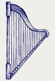 Illustration of lyre. Doodle style Royalty Free Stock Photo