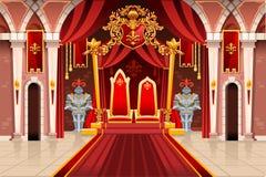 Illustration médiévale avec les armures royales illustration de vecteur