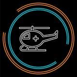 Illustration médicale d'hélicoptère de vecteur illustration de vecteur