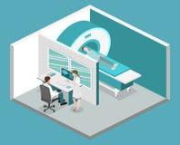 Illustration médicale de Web de mri d'hôpital plat isométrique du concept 3D Photo libre de droits