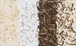 Illustration mélangée de vecteur de modèle de riz Photo stock