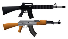 Illustration Of Machine Gun Stock Photography