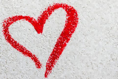 Heart on white and gray background Stock Image