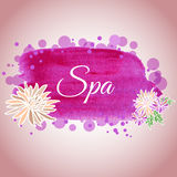Illustration made ​​using watercolors on spa salon with flow Stock Images