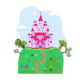 Illustration of a magic castle Stock Photos