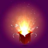 Illustration magique de boîte Photos libres de droits