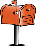 Illustration of an Mailbox Royalty Free Stock Images