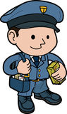 Illustration of mailman Stock Photography