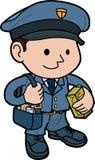 Illustration of mailman Stock Photography
