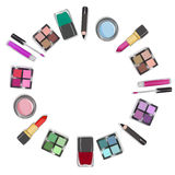 Illustration of make up and cosmetics Royalty Free Stock Photo