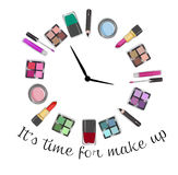 Illustration of make up and cosmetics Royalty Free Stock Images