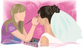Illustration of a makeup Stock Image