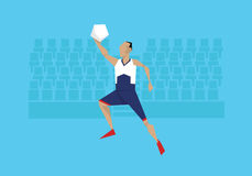 Illustration Of Male Basketball Player Competing In Event royalty free illustration