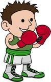 Illustration of male boxer Stock Image