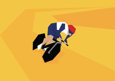Illustration Of Male Cyclist Competing In Event At Velodrome Royalty Free Stock Photo