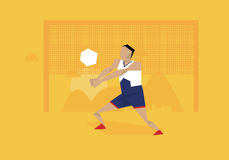 Illustration Of Male Volleyball Player Competing In Event royalty free illustration