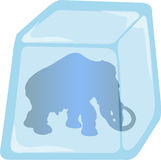 Illustration of Mammoth enclosed in Ice Stock Photos